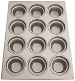 Magna Industries 15340 22-Gauge Aluminized Steel Crown Top Large Muffin Pan, 3-1/2'' Diameter, 3 x 4 Cups Layout (Pack of 6)