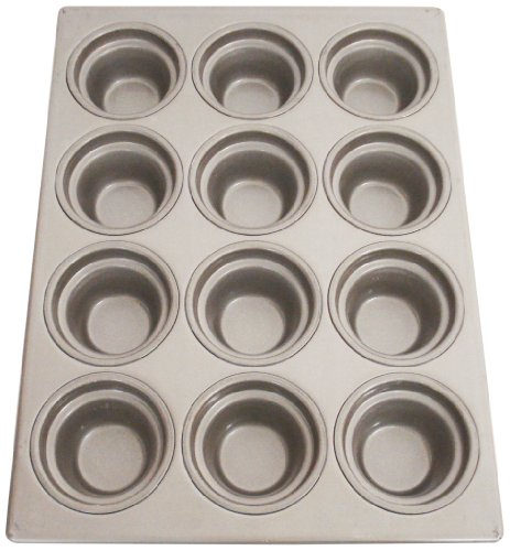 Magna Industries 15340 22-Gauge Aluminized Steel Crown Top Large Muffin Pan, 3-1/2'' Diameter, 3 x 4 Cups Layout (Pack of 6) by Magna Industries (Image #1)