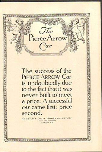 1912 Pierce Arrow Motor Car Co Buffalo NY Auto Ad Pall Mall - Ny Malls Buffalo