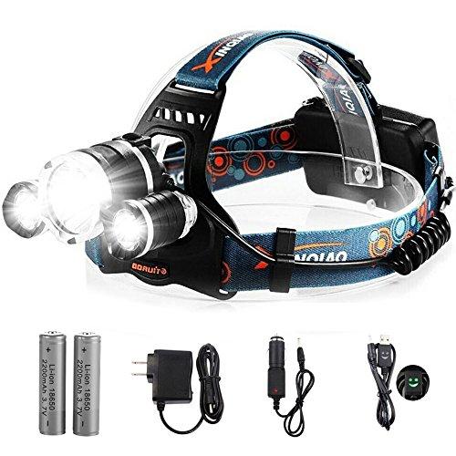 Waterproof Mode Hands Headlight Flashlight Rechargeable product image