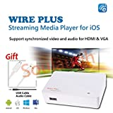 EZCast Wire Plus TV Box 1080P HDTV Lightning to HDMI/VGA for iOS Airplay Mirroring Cast for iPhone / iPad