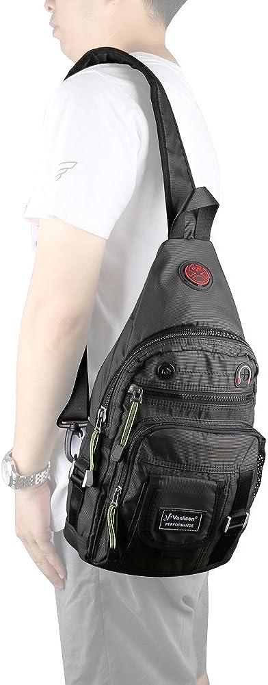 Vanlison Crossbody Sling Bag Backpack for Men /& Women