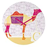 Deny Designs Jennifer Hill, Moroccan Camel, Round Clock, Round, 12″