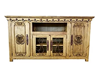 Hi End Rustic Medieval Hand Scrape TV Stand Available In 5 Colors