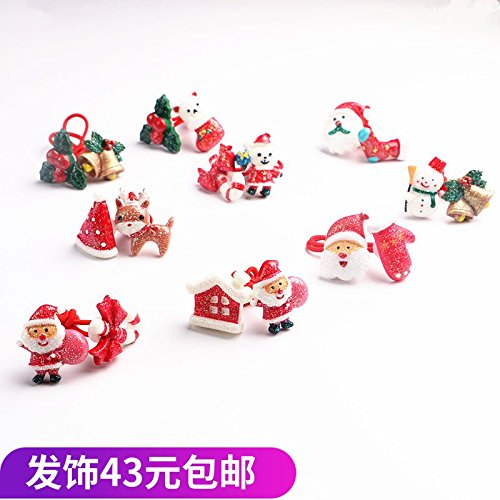 Children's hair accessories hair band Chrisas snowman reindeer hair accessories double-headed cartoon painted ornaments hair Shengpi tendons for women girl lady
