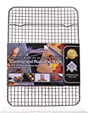 "KITCHENATICS 100% Stainless Steel Wire Cooling Roasting Rack Fits Quarter Sheet Size Baking Pan, Oven Safe, Commercial Quality, Heavy Duty Cooking, Roasting, Drying, Grilling (8.5"" X 12"")"