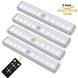 under cabinet led light bar - SZOKLED Remote Control LED Lights Bar, Wireless Portable LED Under Cabinet Lighting, Dimmable Closet Light Stair Night Lights Battery Operated, Stick on Anywhere Safe Light for Hallway Kitchen Bedroom