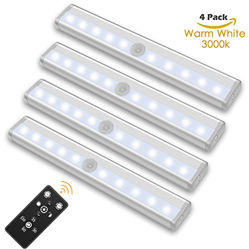 SZOKLED Remote Control LED Lights Bar Wireless Portable Kitchen Under Cabinet Lighting Dimmable Closet Light Stair Night Lights Battery Operated Stick on Anywhere Safe Lights for Hallway Bedroom