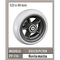 RUEDA MACIZA DE 125X40MM