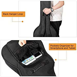CAHAYA Guitar Bag [Premium Version] for 41 42 Inch Acoustic Guitar Gig Bag 0.5in Extra Thick Sponge Overly Padded…
