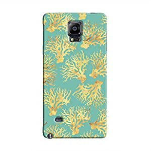 Cover It Up - Blue Gold Nature Print Galaxy Note 4 Hard Case