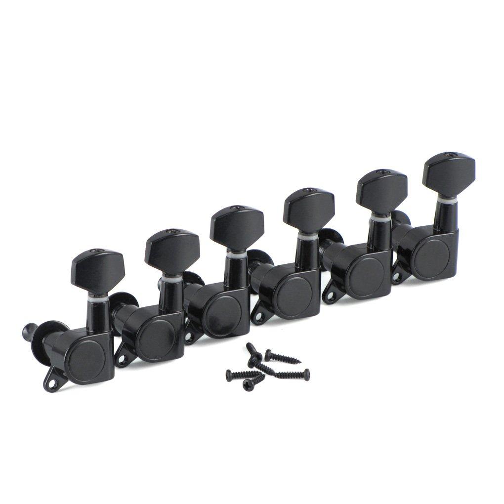 Ikn Lot de 6gauche Noir Mécaniques scellés Mécaniques pour guitare électrique