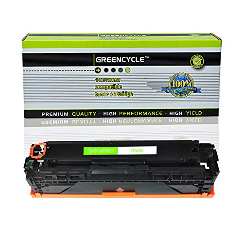 GREENCYCLE Compatible CRG316 / CRG716 / CRG331 / CRG731 Toner Cartridge Replacement for Canon iSENSYS LBP5050n LBP7100c LBP7110cw MF8030 MF8080 MF8230cn MF8280cw MF623 Laser Printer (Cyan,1 Pack)