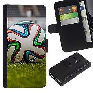 Stuss Case / Funda Carcasa PU de Cuero - Fútbol - Samsung Galaxy S3 MINI 8190