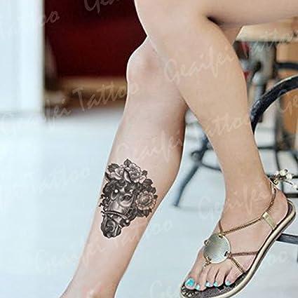 Zokey impermeable tatuaje temporal caballo negro y blanco flors ...