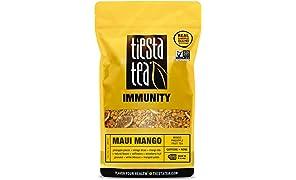 Mango Pineapple Fruit Tea | MAUI MANGO 1 Lb Bag by TIESTA TEA | Caffeine Free | Loose Leaf Herbal Tea Immunity Blend | Non-GMO