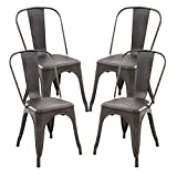 Cheap POLY & BARK Trattoria Side Chair, Set of 4, Bronze