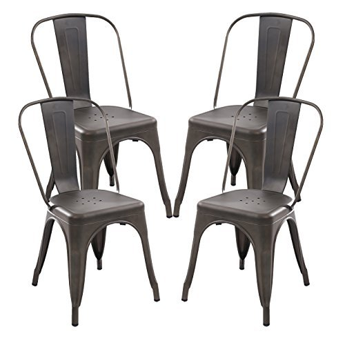 POLY & BARK Trattoria Side Chair, Set of 4 Bronze