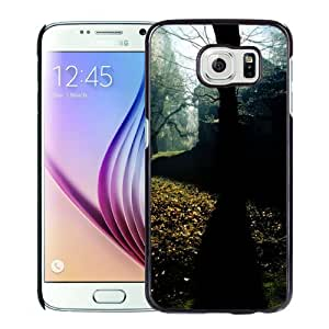 NEW DIY Unique Designed Samsung Galaxy S6 Phone Case For Tree Silhouetted Under The Sun Light Phone Case Cover