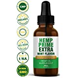 Organic Hemp Oil for Pain Relief - Best Vegan Hemp Extract Oil Supplement for Anxiety and Stress - Great Sleep Aid and Enhances Beauty of Skin Hair & Nails - Promotes General Health and Wellness