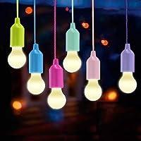 Lampade LED Lamp, Lampadina / Lampadine Lanterna da Campeggio, Vanow Portable 6 Pezzi Escursionismo Lamp per Escursionismo, Pesca, Scrivania, Campeggio, Tenda, Giardino, Barbecue o Semplicemente come Lampada Decorativa a Batteria