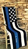 Thin Blue Line Quilt - Thin Blue Line Throw Blanket - Police Officer Quilt 100% Cotton 100% Handmade