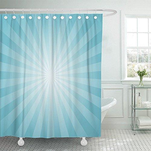 Emvency Shower Curtain Waterproof Sunlight Pale Blue Color B