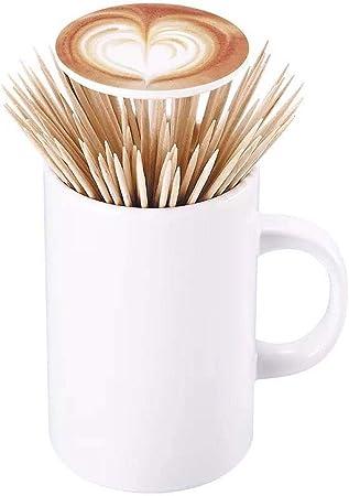 Ffshop Personalidad Creativa Palillo de Dientes automático Caja Taza de café Portátil Palillo de Dientes Titular: Amazon.es: Hogar