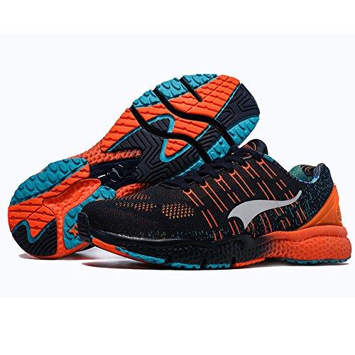 Onemix Donna Leggera Tessitura 3d Codice Morse Atletico Sportivo Allaria Aperta Scarpe Da Corsa Blu Intenso / Arancione