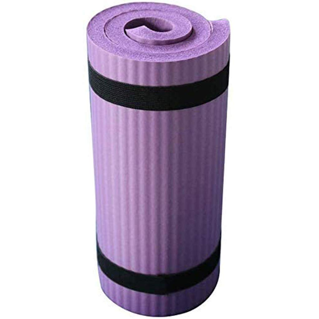 TADAMI Yoga Pad,Exercise Balance Pad,All Purpose High Density Non-Slip Cushioned Exercise Yoga Mat Knee Pad with Carrying Strap for Fitness,Stability Training,Yoga,Physical Therapy Purple