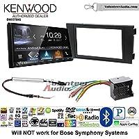 Volunteer Audio Kenwood DMX7704S Double Din Radio Install Kit with Apple CarPlay Android Auto Bluetooth Fits 1999-2006 Audi A6
