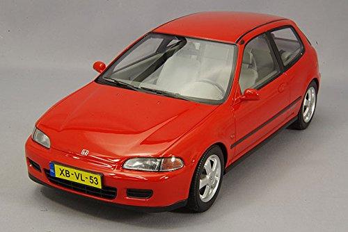 HonDa Civic VTi Hatchback, rosso, 1992, modello di automobile, modello prefabbricato, triplo 9 Collezione 1 18 Modello esclusivamente Da Collezione