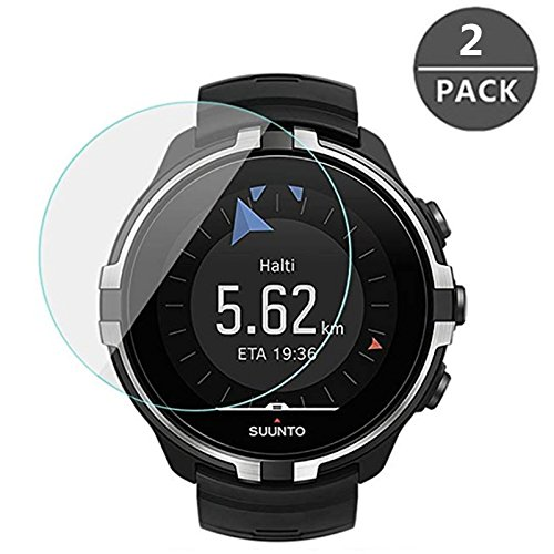 For Suunto Spartan Sport wrist HR Baro Screen Protector Glass,HD Clear Anti-Bubble and Anti-Scratch Full Coverage Screen Tempered Glass for Suunto Spartan - Sport Suunto Watch
