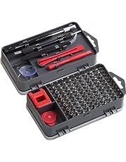 Meister 3387780 Fijnmonteurset 108-delig - reparatieset voor smartphones, tablets, pc's, consoles, camera's, horloges, brillen, modelbouw & Co. / Repair Tool Kit / Precisie-schroevendraaier Set