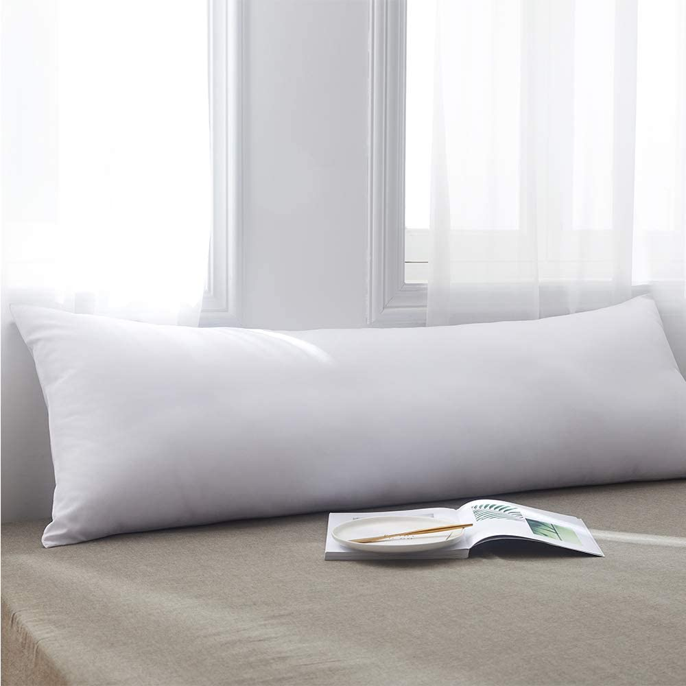 Cosybay Ultra Soft Large Body Pillow Insert – Long Sleeping Breathable Bed Pillow – Memory Fiber Full Body Pillow Insert -20×54 Inch