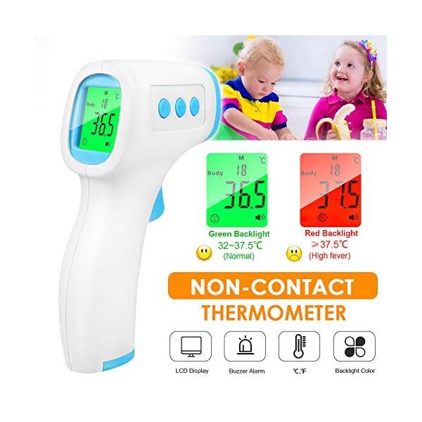 Termómetro Infrarrojo, Termómetro Digital, Termómetros de frente, Pantalla LCD Señal acústia para Adultos 8