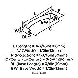 Amerock BP24018SN Essential'Z 3-3/4 in