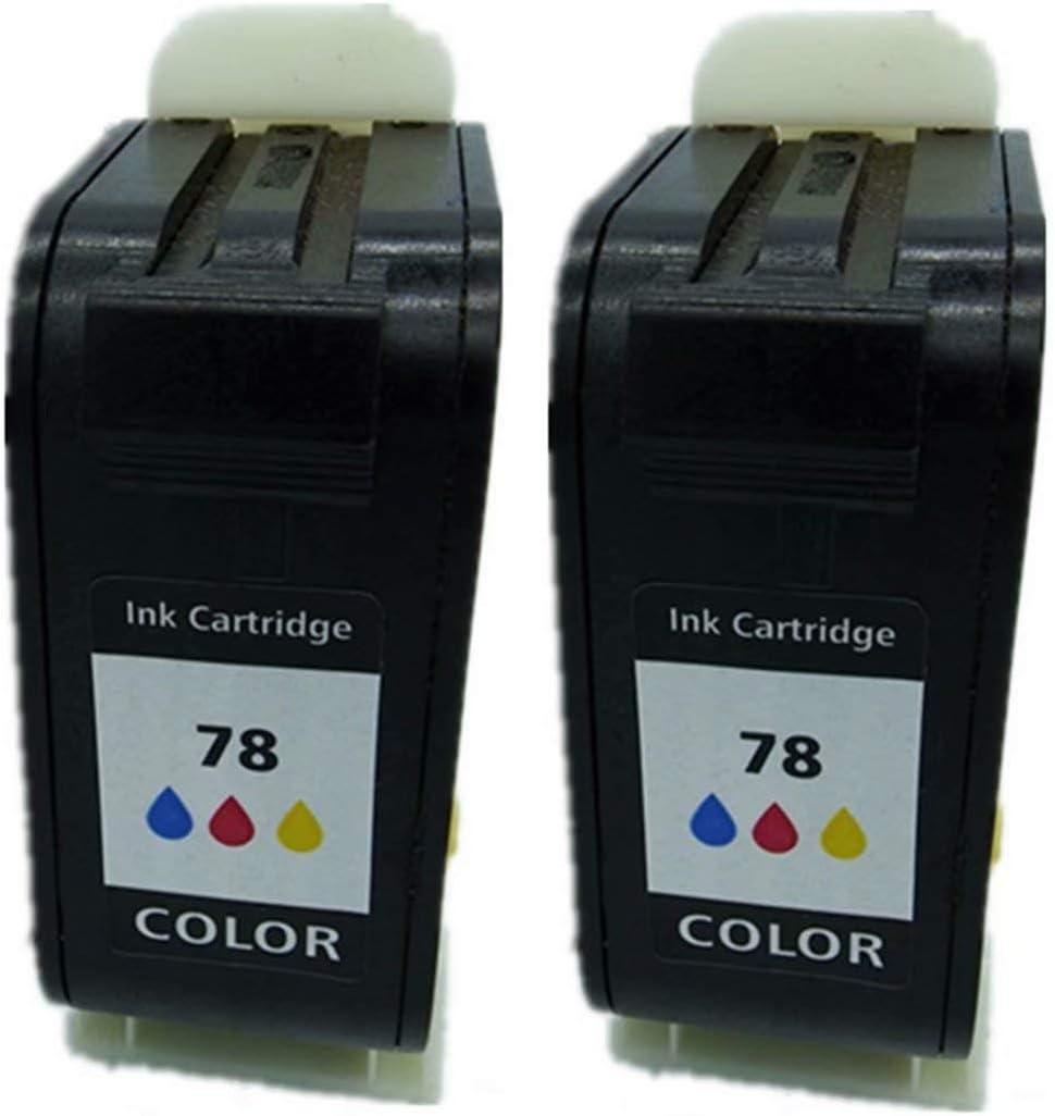 Cartuchos de Tinta de Repuesto para HP 78 XL 78XL HP78XL HP78 6578D Photosmart 1000 1215 Fax 1220 1230 PSC 720 750 950 Color Copier 180 190 280, Color 2 Tri-Color: Amazon.es: Oficina y papelería