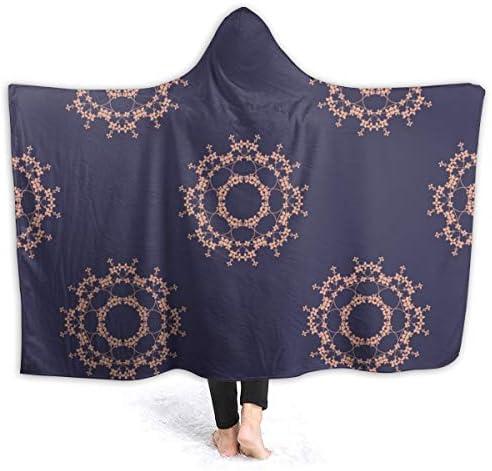 ブランケット シングル 掛け毛布 抽象 マントラ あったか毛布 かわいいフード付き 四季防寒対策 柔らかい