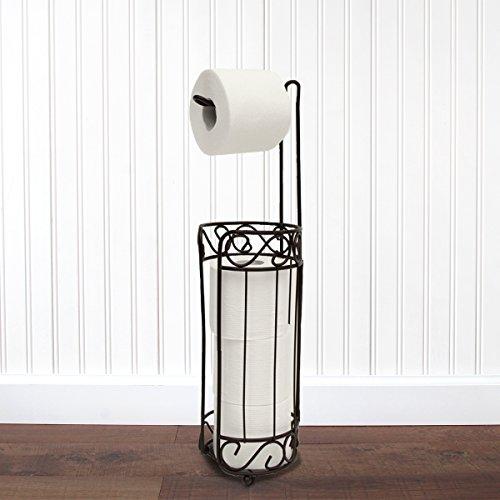Vanderbilt Home Freestanding Toilet Paper Holder in Oil Rubbed Bronze - S Curl