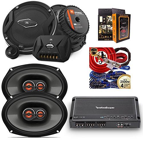 (Rockford R300X4 Prime 300W 4-Channel Amplifier + JBL GX963 300W 6