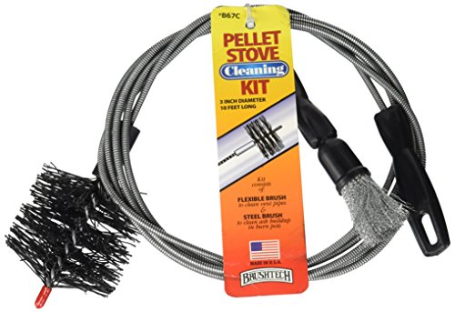 Cleaning Pellet Stove Brushes (Brushtech B67C Pellet Stove Cleaning Kit)