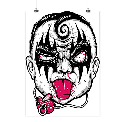 Devil Child Kid Face Angry Baby Matte/Glossy Poster A3 (12x17 inches) | Wellcoda