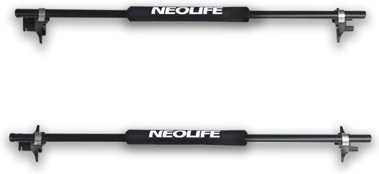 Neolife Crossbar Soft Roof Rack Pads for Surfboard, Kayak, Longboard, SUP Paddleboard, Snowboard, 19 inch (Pair)