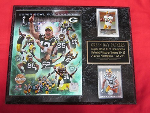 Green Bay Packers Super Bowl XLV Champions 2 Card Collector Plaque #2 w/8x10 Special Edition Photo