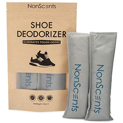 NonScents Shoe Deodorizer - Odor Eliminator, Freshener for Sneakers, Gym Bags, and Lockers (Best Way To Remove Antiperspirant Stains)