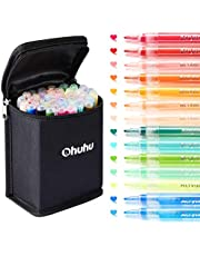 Paint Pens for Rock Painting Art, Ohuhu 40-color Acrylic Markers Pen for DIY Ceramic, Water-Based Acrylic Ink Painting for Porcelain, Metal, Wood, Fabric, Canvas, Glass, Paint Marker