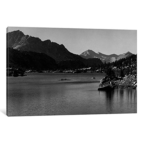 (iCanvasART iCanvas Rac Lake Gallery Wrapped Canvas Art Print by Ansel Adams 18