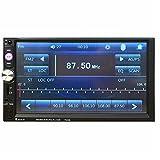 7023B 7inch Touch Screen 2Din Car Radio FM AUX Player Bluetooth USB TF + Car Rear Camera