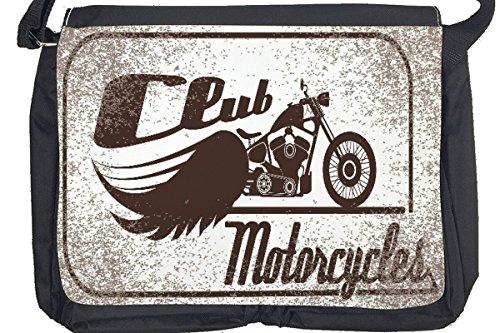 Borsa Tracolla Biker Retrò Moto Club Stampato